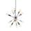 Open Box 12-Light Chrome Sputnik Chandelier