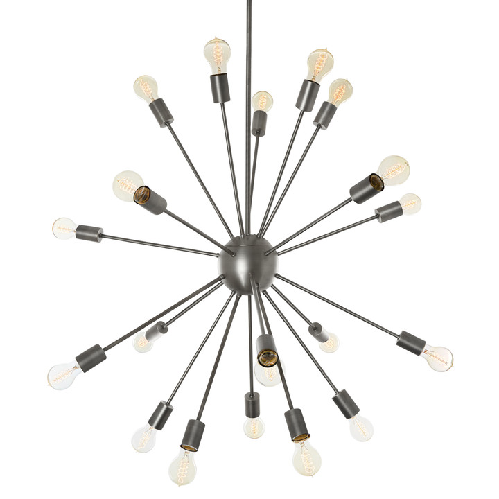 20-Light Pewter Sputnik Chandelier