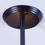 12-Light Sputnik Pendant in Gunmetal, Medium
