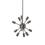 12-Light Pewter Sputnik Chandelier