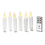 Florence Mini White Drip Resin Flameless Taper Candles, Set of 6