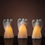 Shimmering Angel Flameless Pillar Candles, Set of 3