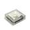 "Iced 6x6"" Solar Brick Light, Warm White"