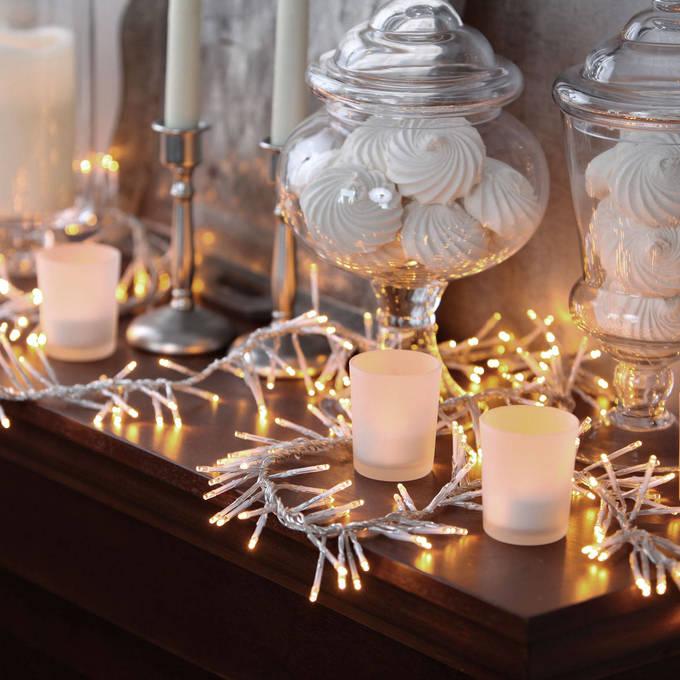 Lights Decor String Led Christmas Warm White 440 Cer Garland Plug In 13ft