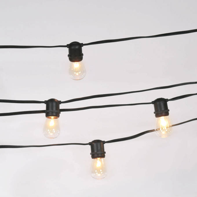 Lights Decor String Vintage Connectable Heavy Duty 24 Socket Light Strand With Bulbs