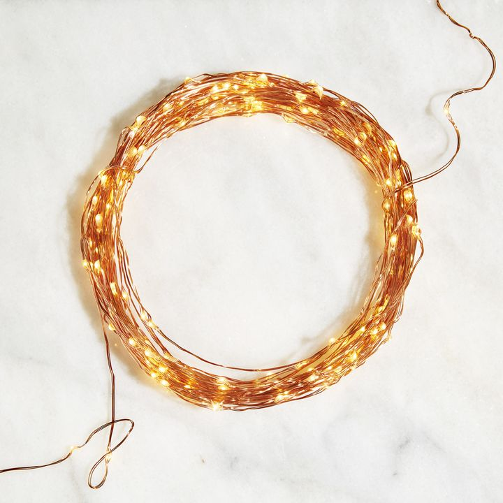 Starry Warm-White Copper Fairy String Lights, 100ft