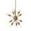 Open Box 12-Light Aged Brass Sputnik Chandelier