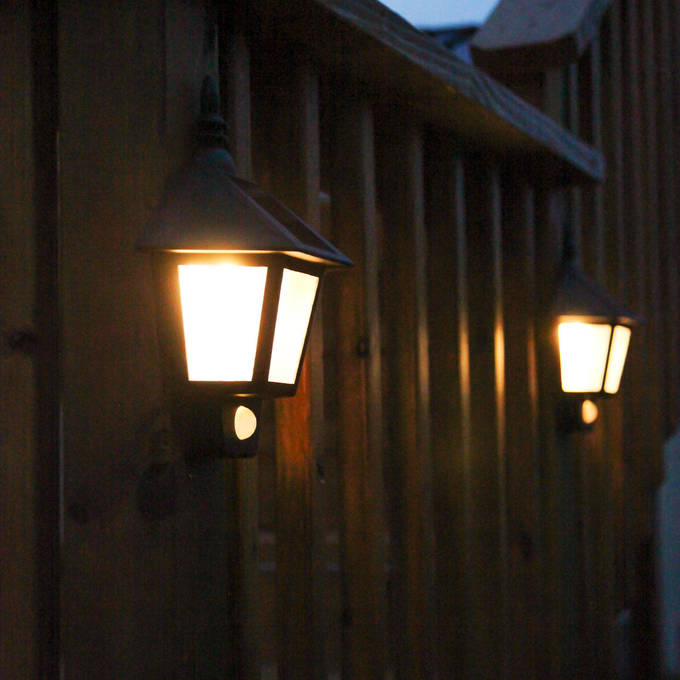 Lights Solar Wall Olwyn Light With Motion Detection Set Of 2