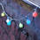 Frosted Globe Color Changing 10 LED Battery String Lights, Set of 3
