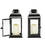 "Chelsea Solar 11.5"" Black Metal Flameless Lantern, Set of 2"