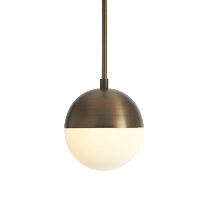 "Powell LED 7"" Bronze Globe Pendant"