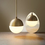 "Open Box Powell LED 7"" Aged Brass Globe Pendant"