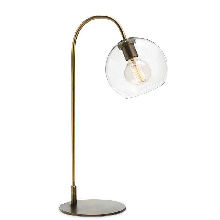 Celeste Table Lamp with Clear Globe, Bronze