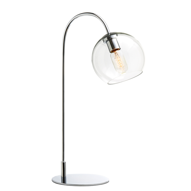 Celeste Table Lamp with Clear Globe, Chrome
