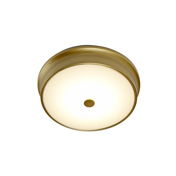 """Abbey 12"""" LED Flush Mount, Aged Brass"""