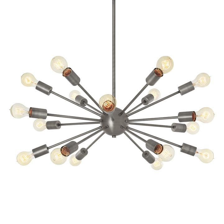 18-Light Pewter Sputnik Chandelier