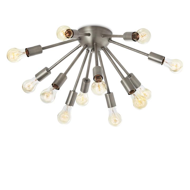 12-Light Pewter Sputnik Flush Mount