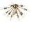 Open Box 12-Light Aged Brass Sputnik Flush Mount