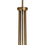 Celeste 5-Light Chandelier with Clear Globes, Aged Brass