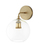Alton Wall Sconce with Clear Globe, Aged Brass