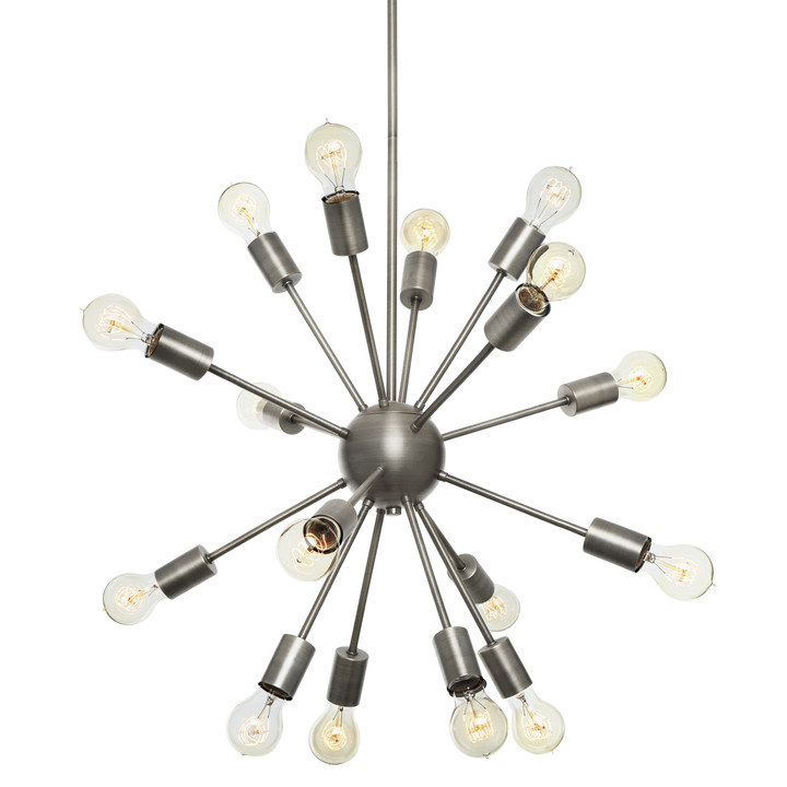 16-Light Pewter Sputnik Chandelier