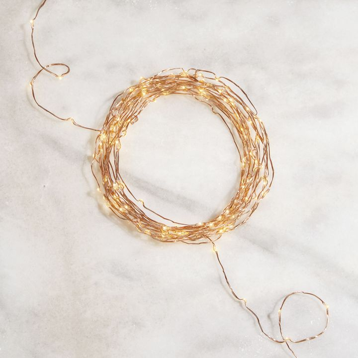 Starry Warm-White Copper Fairy String Lights, 32ft