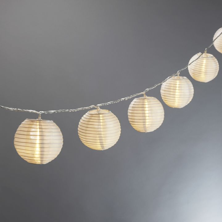 "White Mini Oriental 3"" Low Voltage String Lights, Strand of 10"