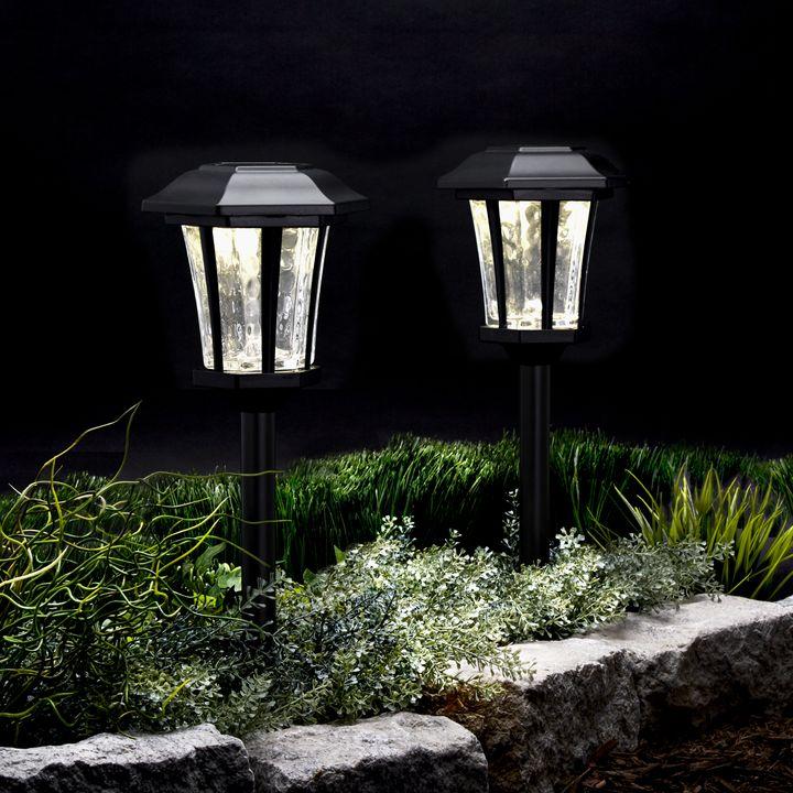 Hampstead Black Solar Path Lights, Set of 4