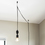 Astor Adjustable Plug-In Pendant, Black