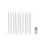 """Classic White 10"""" Wax Flameless Taper Candles, Set of 100"""