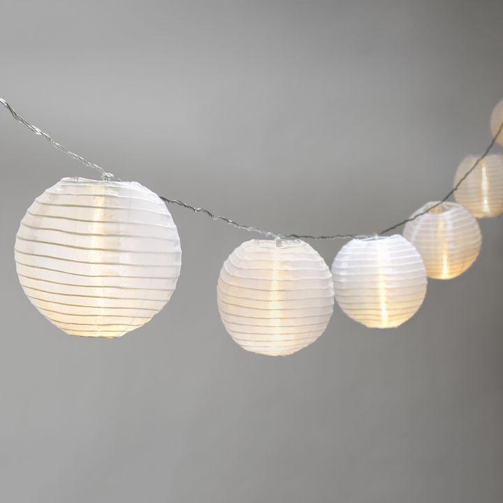 "Ara White 6"" Lantern String Lights, Strand of 10"