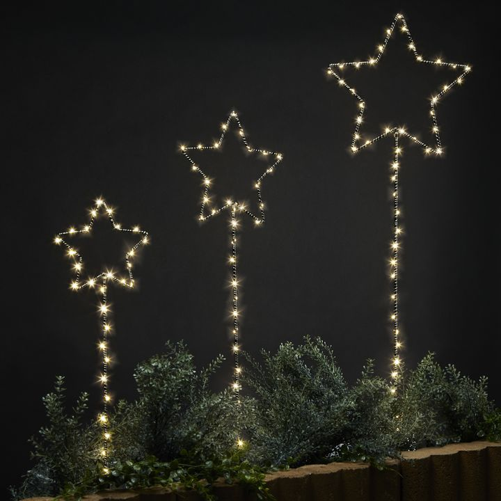 Lights Decor Decorative Lit Objects Shooting Star Garden Set Of 3