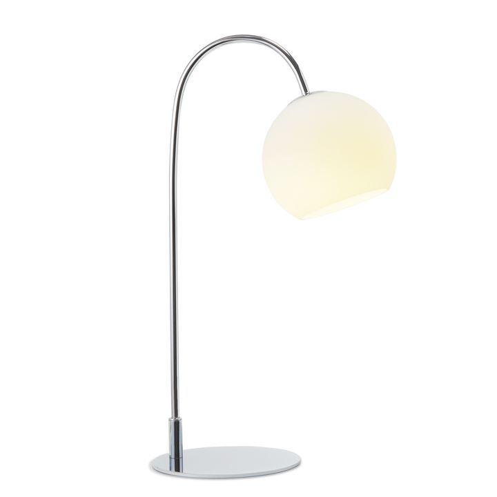 Celeste Table Lamp with White Globe Chrome