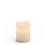 "Signature White 3x4"" Melted-Edge Wax Pillar Candle"