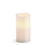 "Signature White Flameless 3x6"" Melted-Edge Wax Pillar Candle"