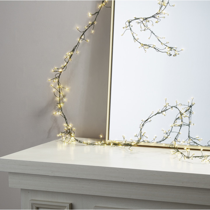 Starry Green Cluster Fairy String Lights, 25ft