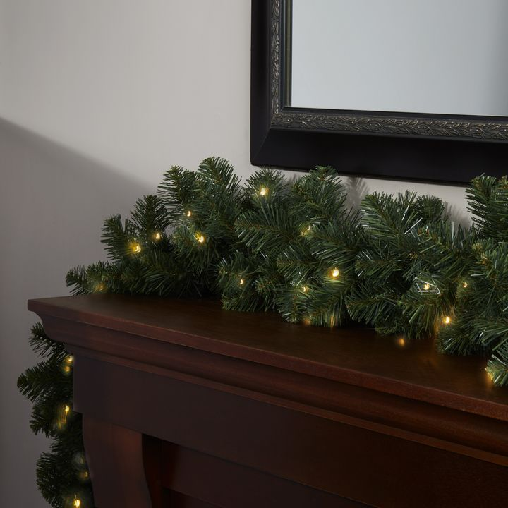 Telluride Pine Faux Garland, 9 ft
