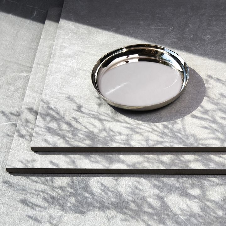 "Orly Silver Pillar Plate, 5"""