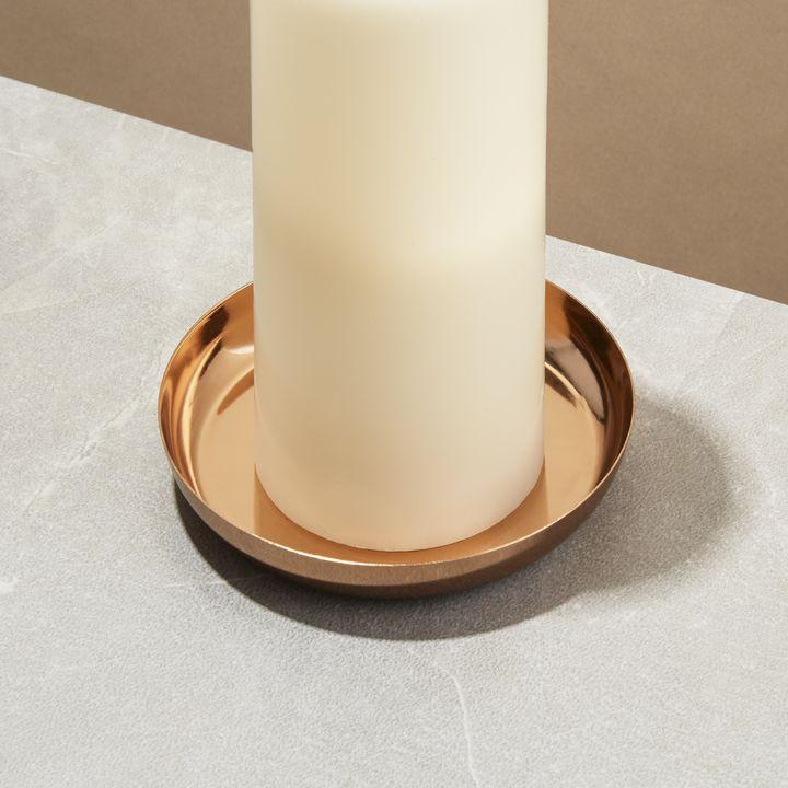 "Orly Copper Pillar Plate, 5"""