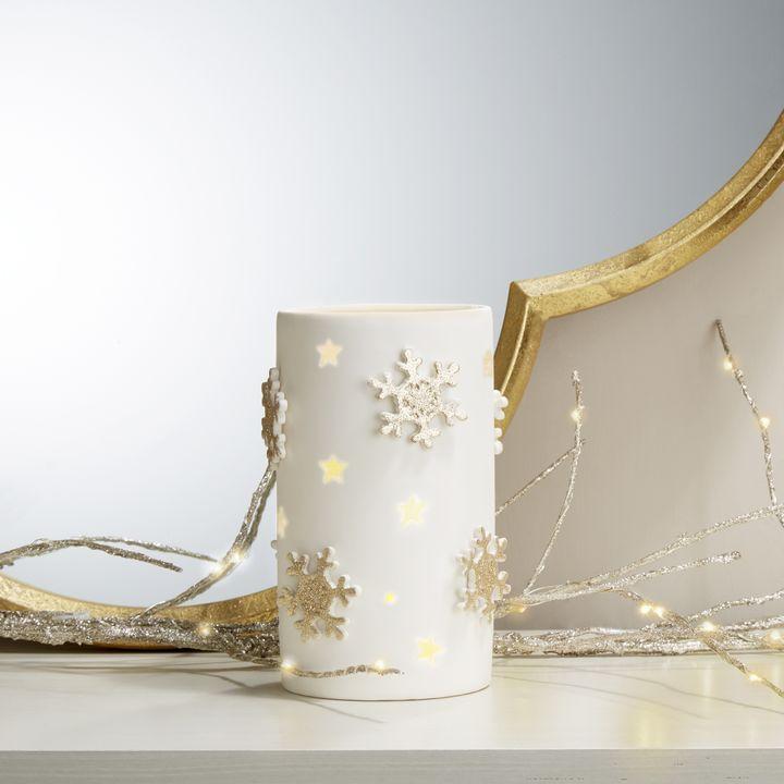 """Porcelain Candle Holder, 6.5"""""""