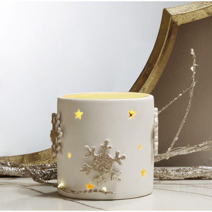 """Porcelain Candle Holder, 3.5"""""""