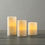 Milos White-Washed Ivory Pillar Candles, Set of 3