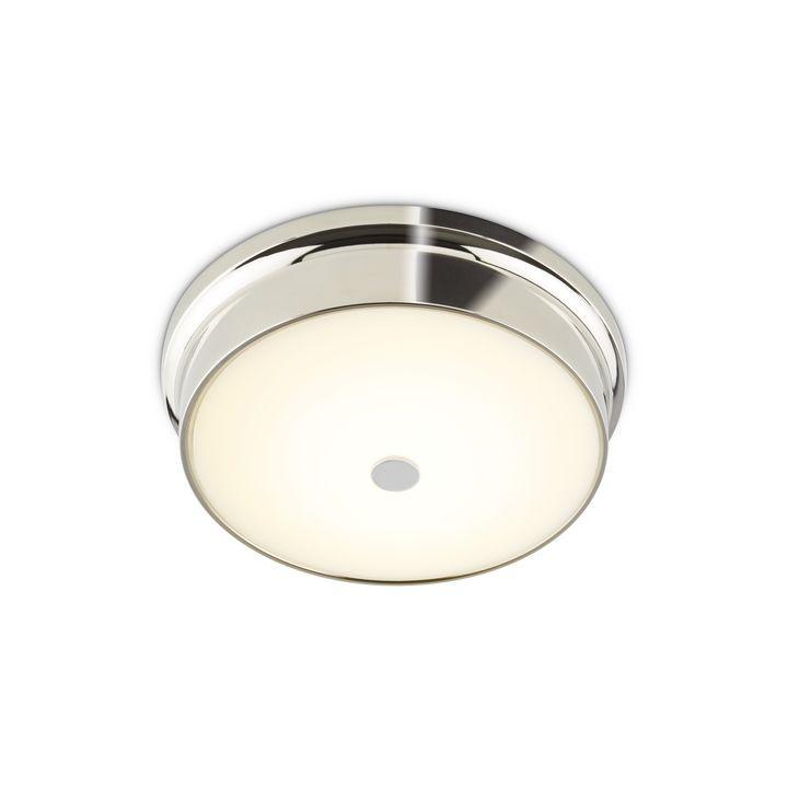 """Abbey 12"""" LED Flush Mount, Polished Nickel"""