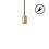 Arlo Plug-In Pendant, Aged Brass