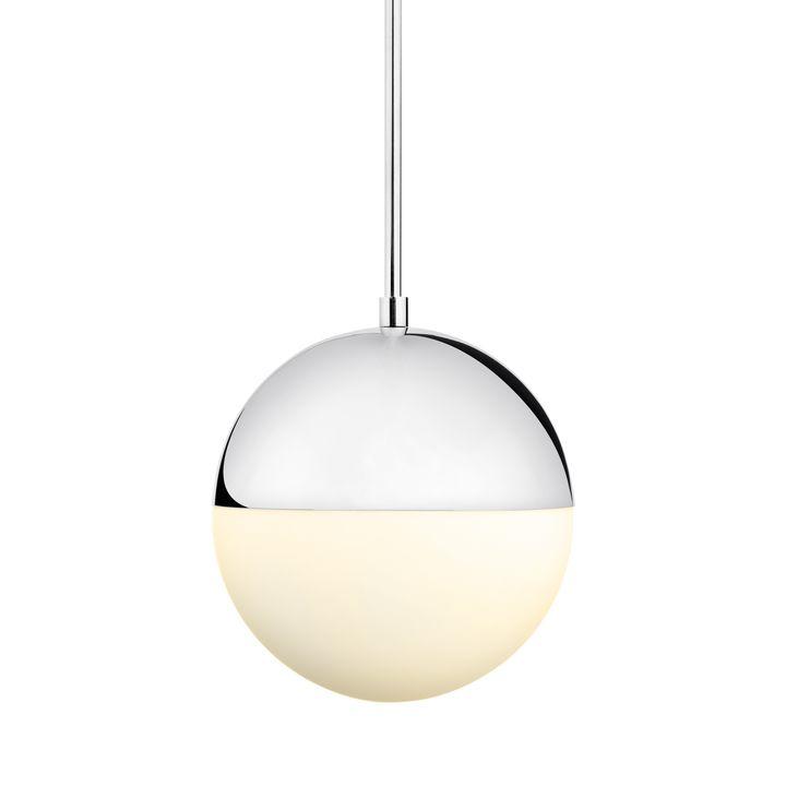 """Powell LED 10"""" Chrome Globe Pendant"""