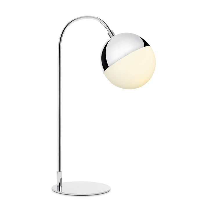 Powell LED Table Lamp, Chrome