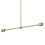 Prospect 2-Light Pendant, Aged Brass
