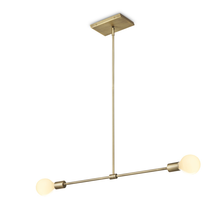 Prospect 2-Light Pendant, Aged Brass by LampLust