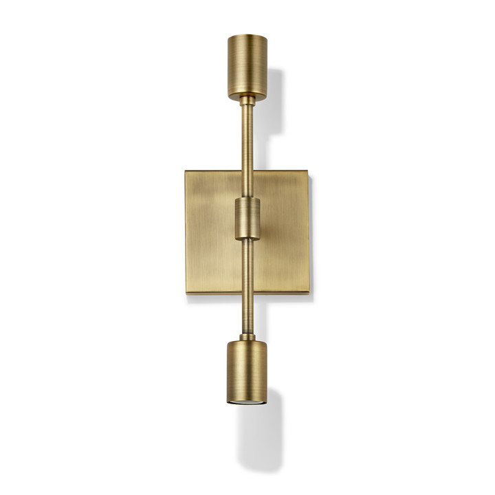 Lights.com | Wall Lights | Wall Sconces | Prospect 2-Light ... on Aged Brass Wall Sconce id=41629