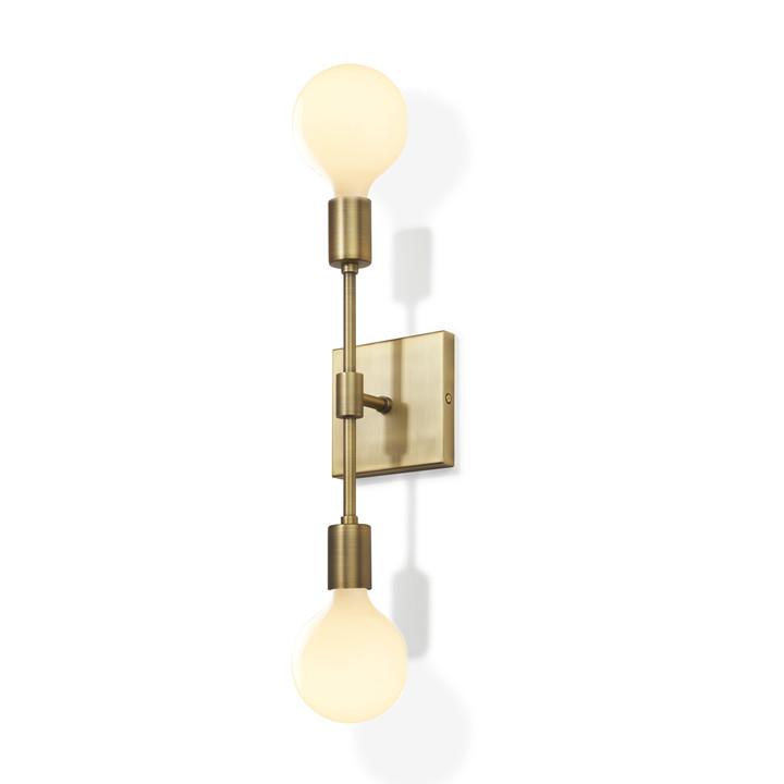 Prospect 2-Light Wall Sconce, Aged Brass